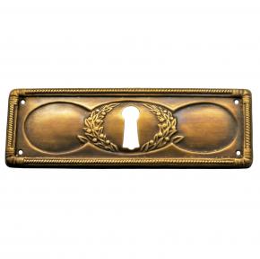Schlüsselschild 95 x 33mm Messingblech