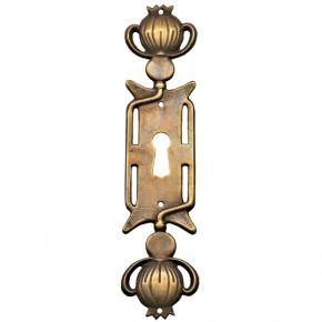 Schlüsselschild Messingblech 25 x 130mm