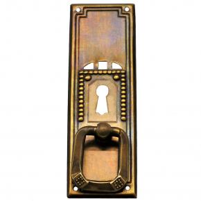 Griffschild mit Schlüsselloch messingblech 35 x 105mm