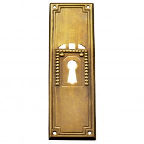 Schlüsselschild messingblech 35 x 105mm