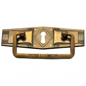 Griffschild Schlüsselloch Messingblech 100 x 30mm