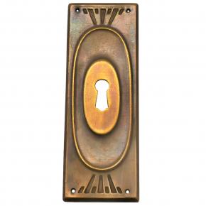 Schlüsselschild Messingblech 37 x 112mm