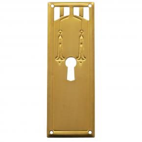 Schlüsselschild Messingblech 35 x 95mm