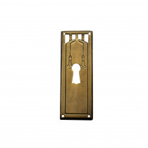 Schlüsselschild Messingblech 28 x 80mm