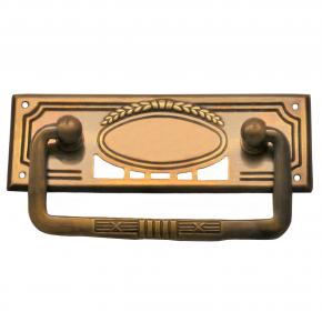 Griffschild Messingblech 95 x 33mm