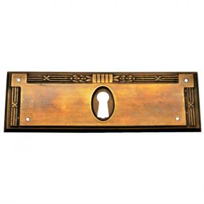 Schlüsselschild Messingblech 110 x 37mm