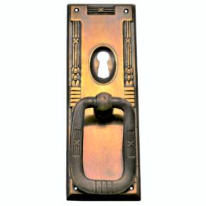Griffschild mit Schlüsselloch Messingblech 30 x 93mm