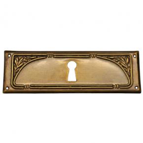 Schlüsselschild Messingblech 100 x 35mm