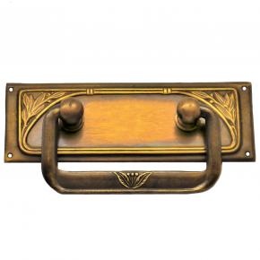 Möbelbeschlag Griffschild Messingblech 83 x 30mm
