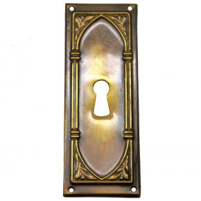 Schlüsselschild Messingblech 30 x 83mm