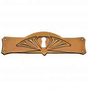 Schlüsselschild Messingblech 97 x 32mm