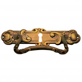 Griffschild mit Schlüsselloch 120 x 30mm Messingblech