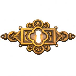 Schlüsselschild Messingblech 95 x 48mm
