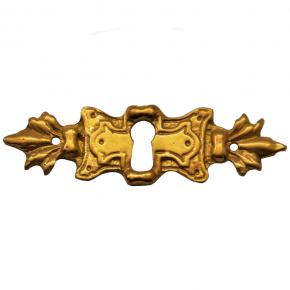 Schlüsselschild Messingguss 80 x 25mm
