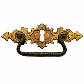 Griffschild mit Schlüsselloch 128 x 42mm Messingblech