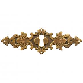 Schlüsselschild Messingblech 128 x 42mm