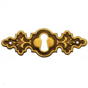 Schlüsselschild Messingblech 68 x 23mm
