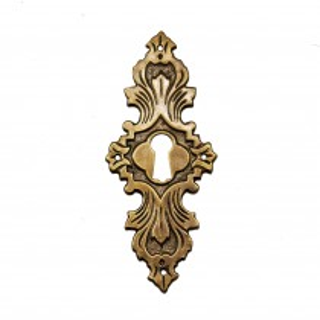 Schlüsselschild Messingblech 38 x 93mm