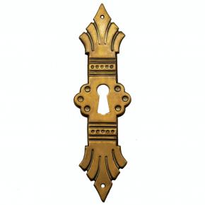 Schlüsselschild messingblech 31 x 120mm