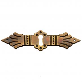 Schlüsselschild Messingblech 120 x 31mm