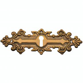 Schlüsselschild Messingblech 116 x 38mm