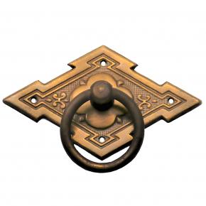 Griffschild mit Ringgriff Messing 63 x 38mm