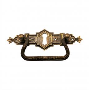 Griffschild mit Schlüsselloch Messingblech 115 x 33mm
