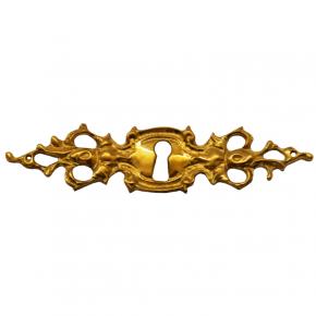 Schlüsselschild Messingguss 120 x 30mm