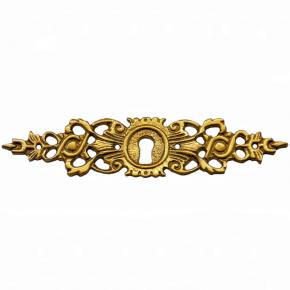 Schlüsselschild aus Messingguss 120 x 30mm