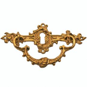 Griffschild mit Schlüsselloch Messingguss 105 x 40mm