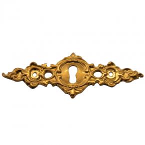 Schlüsselschild Messingguss 90 x 30mm