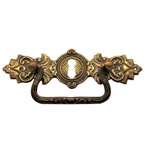Griffschild mit Schlüsselloch Messingblech 120 x 35mm