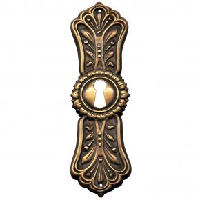 Schlüsselschild Messingblech 28 x 98mm