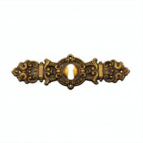 Schlüsselschild Messingblech 115 x 35mm