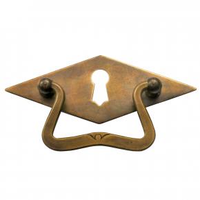 Griffschild mit Schlüsselloch Messingblech 100 x 40mm