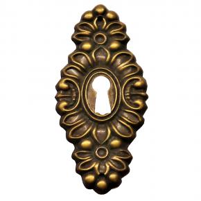 Schlüsselschild Messingblech 38 x 83mm