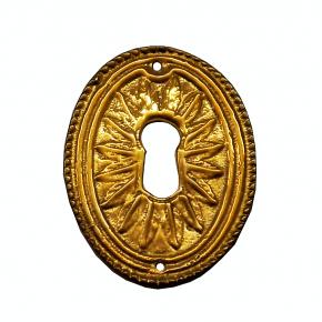 Schlüsselschild Messingguss 37 x 52mm