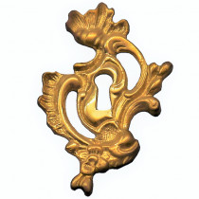 Schlüsselschild aus Messingguss 50 x 78mm