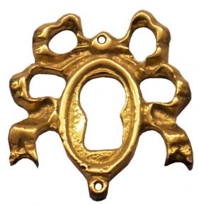 Schlüsselschild Messingguss 28 x 32mm