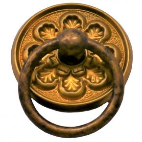 Griffschild Ringgriff Messingblech Durchmesser 40mm