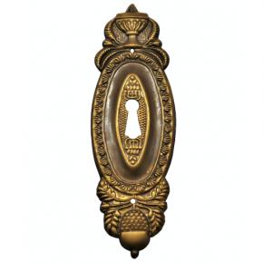 Schlüsselschild Messingblech 40 x 125mm