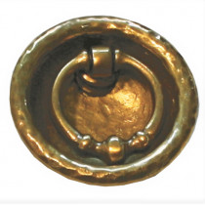 Schiebetürmuschel Messing Durchmesser 53mm