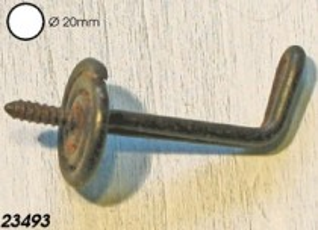 Garderobenhaken - Kleiderhaken eisen antik Durchmesser 20mm