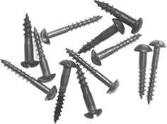 3754: Holzschraube Halbrundkopf mit Schlitz, Messing poliert oder patiniert, 1 Stk., 2,5 x 12 mm