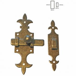 Riegel Eisen antik Höhe 135mm Breite 40mm