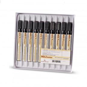 33235: BORMA Holzmarker - Lichtechter & Wasserfester Lackstift, Sortiment mit 10 Stiften