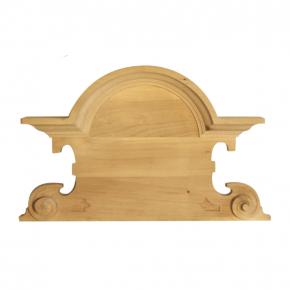 Holzapplikation Breite 360mm Höhe 220mm Linde