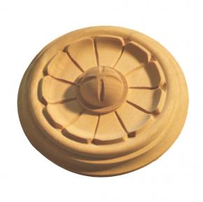 Holzapplikation Durchmesser 95mm Linde