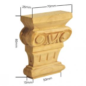 Holzapplikation Breite 70mm Höhe 85mm Tanne Buche