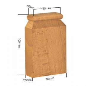 Holzapplikation Breite 65mm Höhe 100mm Tanne Buche